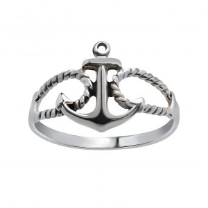 Wholesale Silver Anchor Ring