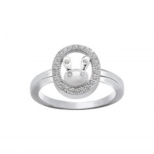 Wholesale Silver Rabbit Cubic Zirconia Ring