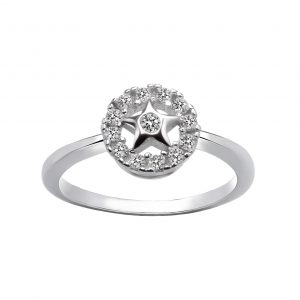 Wholesale Silver Star Cubic Zirconia Ring