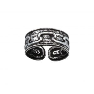 Wholesale Silver Patterned Adjustable Toe Ring
