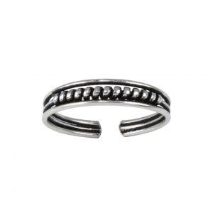 Wholesale Silver Bali Adjustable Toe Ring