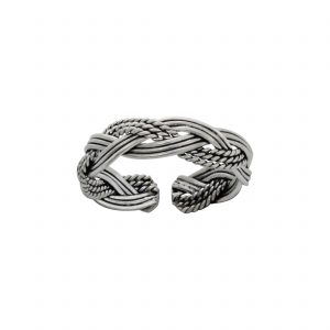 Wholesale Silver Braided Adjustable Toe Ring