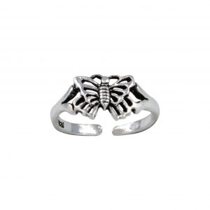 Wholesale Silver Butterfly Adjustable Toe Ring
