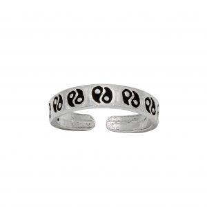 Wholesale Silver Yin-Yang Adjustable Toe Ring