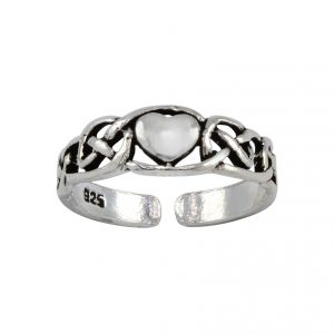 Wholesale Silver Heart Adjustable Toe Ring