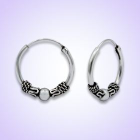 Bali Hoop Earrings