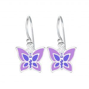 Wholesale Silver Butterfly Earrings
