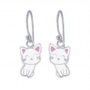 Wholesale Silver Cat Earrings