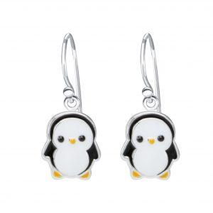 Wholesale Silver Penguin Earrings