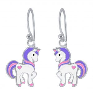 Wholesale Silver Unicorn Earrings