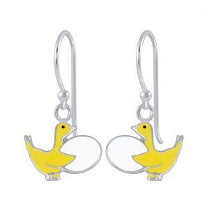 Wholesale Silver Goose Earrings