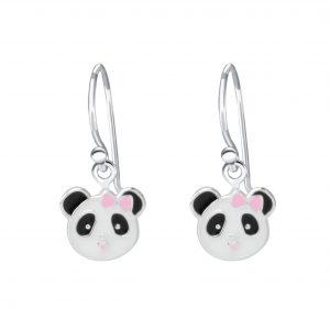 Wholesale Silver Panda Earrings