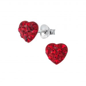 Wholesale Silver Heart Stud Earrings