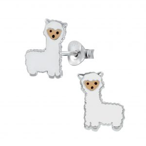 Wholesale Silver Alpaca Stud Earrings