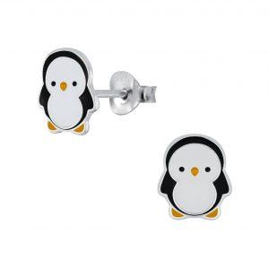 Wholesale Silver Penguin Stud Earrings
