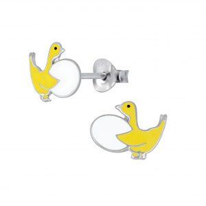 Wholesale Silver Goose Stud Earrings