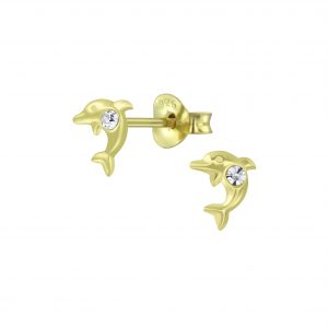 Wholesale Silver Dolphin Stud Earrings