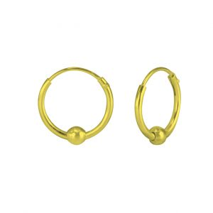 Wholesale Silver Ball Hoop Earrings