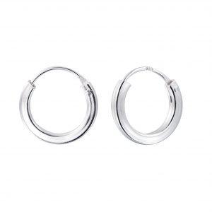 Wholesale 12mm Silver Square Tube Hoop Earrings