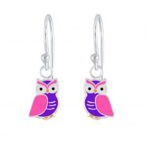 Wholesale Silver Owl Earrings