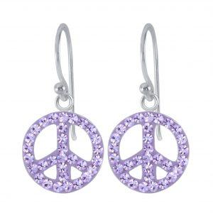 Wholesale Silver Peace Earrings
