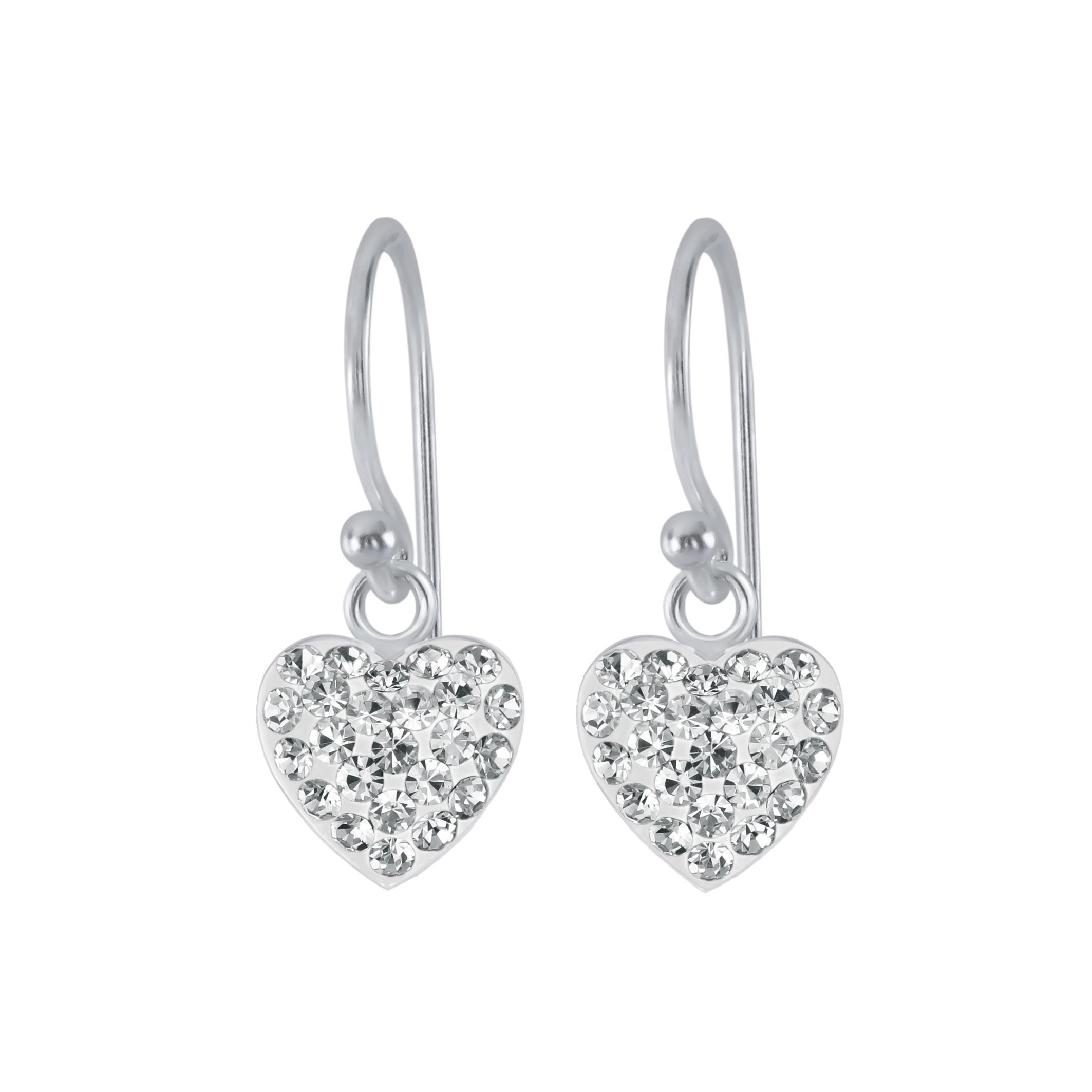 Whole Silver Heart Earrings