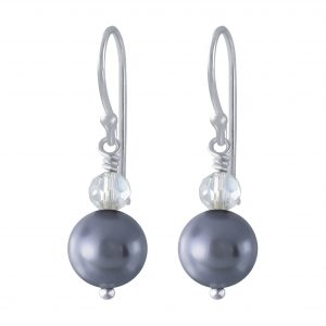 Wholesale Silver Handmade Earrings With Hanging Pearl