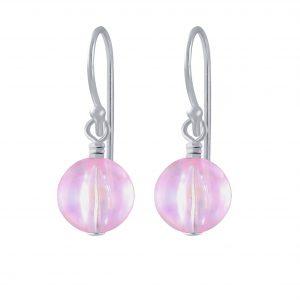 Wholesale Silver Colorful Bead Handmade Earrings