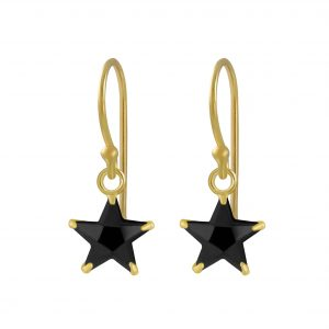 Wholesale 6mm Star Cubic Zirconia Silver  Earrings