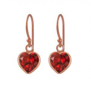 Wholesale 6mm Heart Cubic Zirconia Silver Earrings