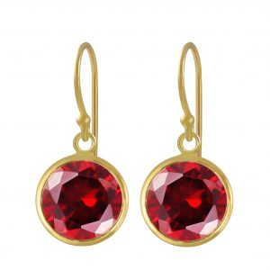 Wholesale 10mm Round Cubic Zirconia Silver Earrings