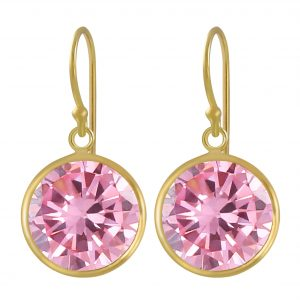 Wholesale 12mm Round Cubic Zirconia Silver Earrings