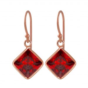 Wholesale 8mm Square Cubic Zirconia Silver Earrings