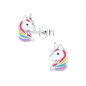 Wholesale Silver Unicorn Stud Earrings