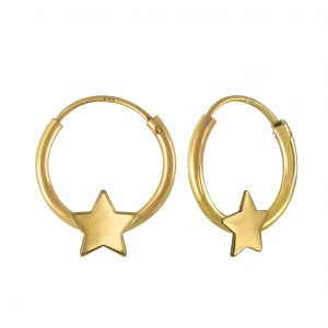 Wholesale Silver Star Hoop Earrings