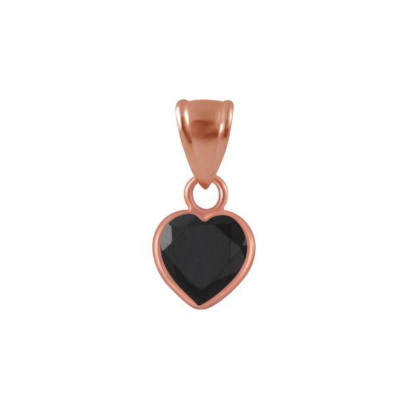 Wholesale 6mm Heart Cubic Zirconia Silver Pendant