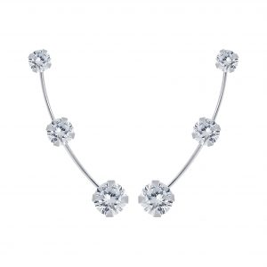 Wholesale Silver Cubic Zirconia Ear Climbers