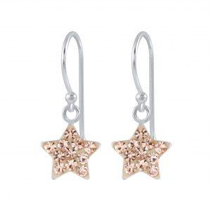 Wholesale Silver Crystal Star Earrings