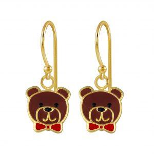 Wholesale Silver Bear Earrings