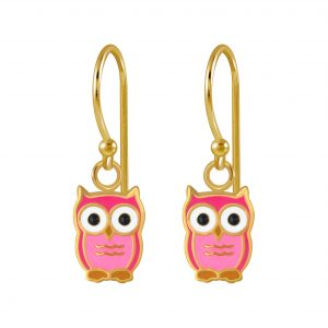 Wholesale Silver Owl Earrings