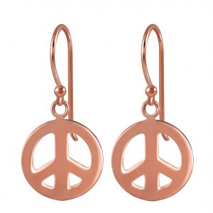 Wholesale Silver Peace Earrings