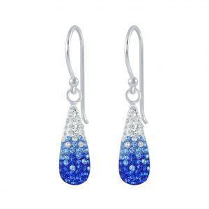 Wholesale Silver Crystal Drop Earrings