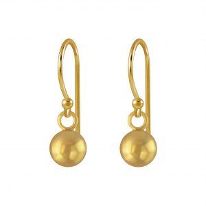Wholesale 5mm Silver Ball Earrings