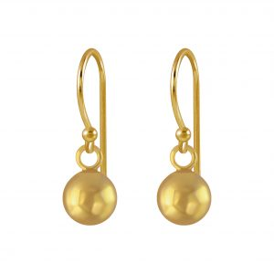 Wholesale 6mm Silver Ball Earrings