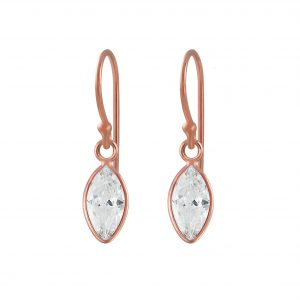 Wholesale 5x10mm Marquise Cubic Zirconia Silver Earrings