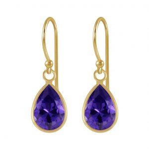 Wholesale 7x10mm Pear Cubic Zirconia Silver Earrings