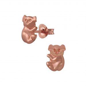 Wholesale Silver Koala Bear Stud Earrings