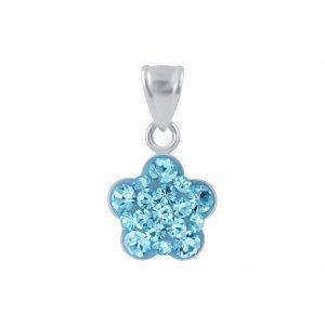 Wholesale Silver Flower Crystal Pendant