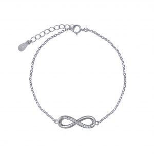Wholesale Silver Infinity Cubic Zirconia Bracelet