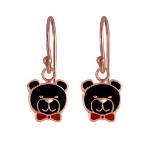 Wholesale Silver Bear Earrings